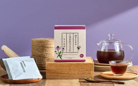 【本土有機栽培紫錐菊茶包 10包/袋】天然的伏冒熱飲 產地親摘鮮採